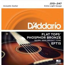 D'ADDARIO EFT 15 - Струны для акустической гитары