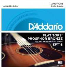 D'ADDARIO EFT 16 - Струны для акустической гитары