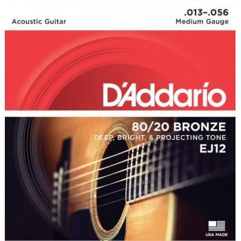 D'ADDARIO EJ12 - Струны для акустической гитары