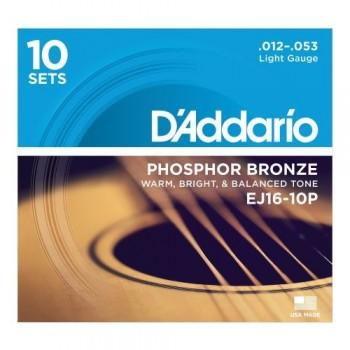 D'ADDARIO EJ16 -10P - Струны для акустической гитары
