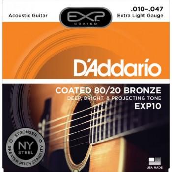 D'ADDARIO EXP10 - Струны для акустической гитары